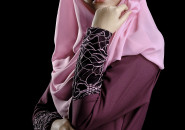 Jilbab with trim