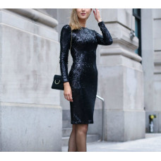 Dress with strass or trim