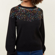 Blouse with strass